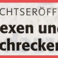 Schneeschreckerwachen in der Uni-Kurve: Zeitungsartikel.