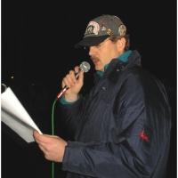 Schneeschreckerwachen in der Uni-Kurve: Rolf Reisacher rief die Schrecken und Hexen.