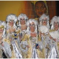 Fasnachtsparty im Havana: Die Elferfrauen verkleideten sich im Rokoko-Stil.