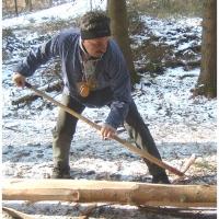 Narrenbaumholen in Hegne: Fleißige Hände reppelten den Baum.