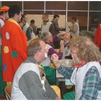 Rosenmontag war Clowntag: Dann wurde geschminkt.