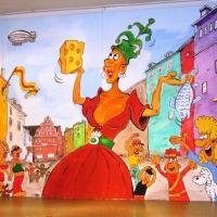 11.11. in der Linde: Das Bühnenbild, gemalt von Ekki Moser.