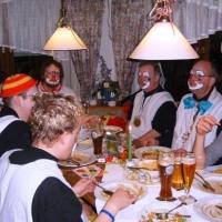 Rosenmontag: Am Abend gab es eine Essenspause in Ünerlingen am Ried.