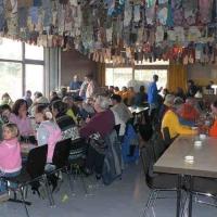 Narrenbaumholen in Hegne: Danach saß man noch im Gemeindesaal von Hegne zusammen.