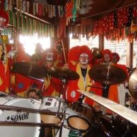 Rosenmontag: Die Clowngruppe beim Speckessen im St. Stefanshaus.