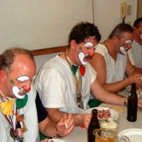 Rosenmontag: Danach gab es traditionell Speck mit Rettichsalat.