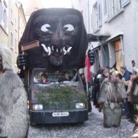 """Umzug am Fasnachtssonntag: Der Schneeschreck bei der """"Arbeit"""""""