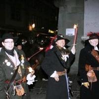 Verbrennung auf dem Stefansplatz: Der Räuber beim Verbrennungs-Umzug.