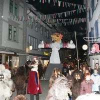 Verbrennung auf dem Stefansplatz: Danach folgte die Puppe.