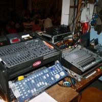 11.11. in der Linde: Die Technik stand bereit für den Start des Programms.