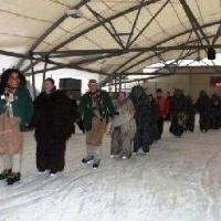 """Die Schneckenburg bei """"Mäschkerle on Ice""""."""
