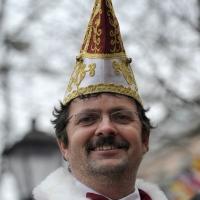 Schmutziger Donnerstag: Elferrat Jörg Becker auf dem Fischmarkt.