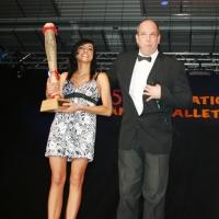 Männerballett-Treffen vom Schneeschreck: Das Ansager-Team Stephanie Schieß und Axel Zunker.