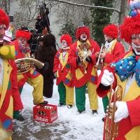 Schmutziger Donnerstag: Die Clowngruppe im Maria-Hilf-Kindergarten in Allmannsdorf.