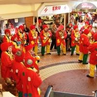 Schmutziger Donnerstag: Die Clowngruppe im Seerheincenter.