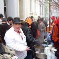 Schmutziger Donnerstag: Bei der Familie Rahming bekam jeder eine warme Suppe.