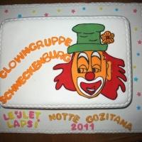 Die Clowngruppe auf der Insel Gozo: Die Frau des offiziellen Betreuers backte einen Kuchen.