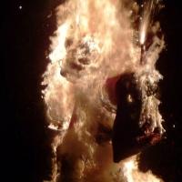 Verbrennung auf dem Stefansplatz: Dann brannte sie unausweichlich nieder.