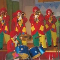 Danach spielte die Clowngruppe beim Frühschoppen der Quaker in Allmannsdorf.