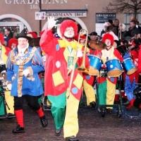 Die Clowngruppe beim Monsterkonzert der Froschenzunft in Radolfzell.