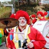 Die Clowngruppe beim Hegau-Bodensee-Umzug in Dingelsdorf.