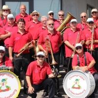 Die Clowngruppe beim Eisenbahner-Sportverein am Hafen.