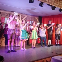 11.11. in der Linde: Der Fanfarenzug unter der Leitung von Alexander Urban eröffnete den 2. Teil des Programms.