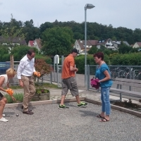 Boule-Turnier der Schneckenburg: Das Turnier war voll im Gange