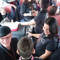 Umzug in Gundelfingen: Im Bus herrschte eine ausgelassene Stimmung.