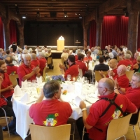 90. Geburtstag von Paul Bischoff: Das Festessen fand dann im großen Saal des Konzils statt.