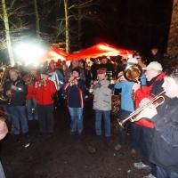 Schneeschreckerwachen in der Unikurve: Zur Unterhaltung spielte die Clowngruppe unter der Leitung von Gerd Zachenbacher.