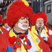Hegau-Bodensee-Umzug in Markelfingen: Die Clowngruppe lief vorneweg.