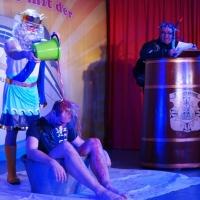 11.11. in der Linde: Poseidon Florian Trempa war in seinem Element.