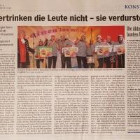 11.11. in der Linde: Südkurierbericht über einen gelungenen Abend der Schneckenburg.