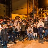 Verbrennung auf dem Stephansplatz: Die vielen Zuschauer warteten gespannt auf das Spektakel.