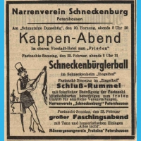 Das Programm der Schneckenbürgler Saalfasnacht im Zigelhof aus dem Jahre 1936.