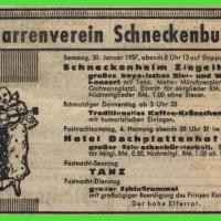 Der Narrenfahrplan von 1937.