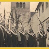 Der Elferrat zu Besuch auf der Reichenau. Rosenmontag 1937.