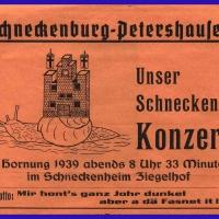Das Programm der Schneckenbürgler Fasnachtskonzerte von 1939.