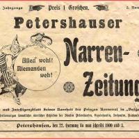 Um 1900 wurde bereits eine Narrenzeitung in Petershausen gedruckt.