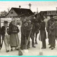 Schmutziger Donnerstag 1939: Auf dem Gottmannplatz.