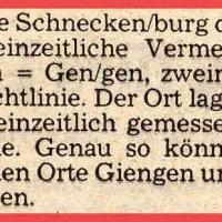 """Der Ursprung des Namens """"Schneckenburg"""" kann folgendermaßen erklärt werden."""