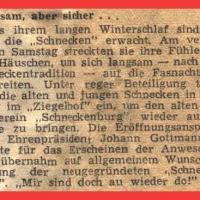 Langsam aber sicher... Zeitungsartikel vom 11.11.1949.