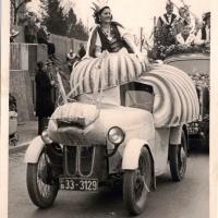 Schneckenprinzessin Gerda Kabusreuther beim Umzug in Wollmatingen.
