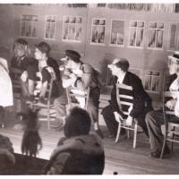 Großer Bunter Abend im Ziegelhof: Barbierstube Felsenwall mit H. May, E. Volz, H. Lauppe, W. Birkmaier, W. Knäbel. Nicht zu sehen: W. Stöß, E. Schaer.