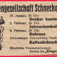 Das Programm der Schneckenburg im Jahre 1951.