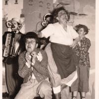 Bunter Abend im Schützen: Groß-Maleur im Strandbad . Mit Willi Rupp, Otto Springhart, Ewald Volz und Margarete Müller.