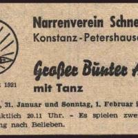 Bunter Abend im Schützen: Zeitungswerbung.