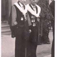 Schmutziger Donnerstag: Präsident Konti I. und Schriftführer Paul Bischoff.