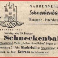 Das Saal-Programm der Schneckenburg.
